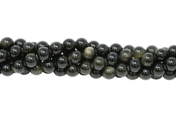 Golden Rainbow Obsidian Polished 10mm Round