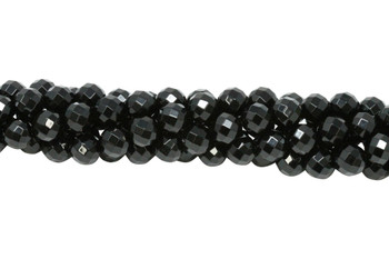 Black Onyx A Grade Polished 10mm Faceted Round - 64 Cut