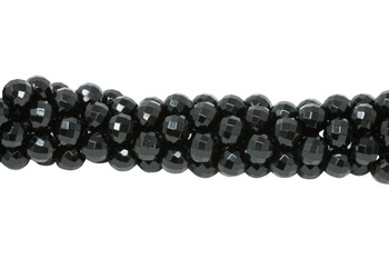 Black Onyx A Grade Polished 12mm Faceted Round - 64 Cut