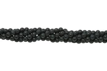 Black Onyx Matte 6mm Round - Sanskrit Etched