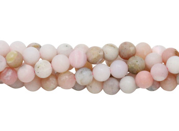 Pink Opal Matte 6mm Round