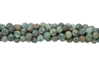 African Turquoise Matte 8mm Round