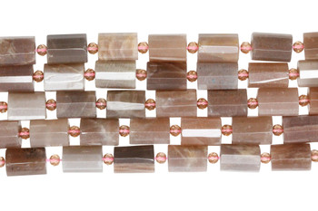 Red Sunstone Polished 10x14mm Faceted Drum