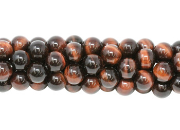 Red Tiger Eye Grade A Polished 8mm Round
