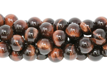 Red Tiger Eye Grade A Polished 12mm Round