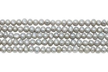 Silver Freshwater Pearls Grade A 4-5mm Semi Round