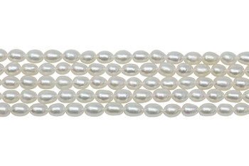 White Freshwater Pearls 4mm Rice