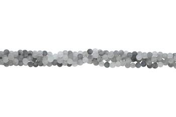 Cloudy Quartz Matte 6mm Round