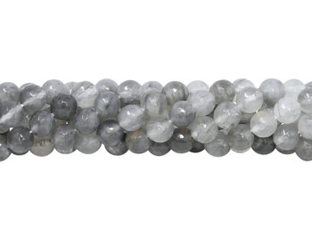 Cloudy Quartz Polished 8mm Faceted Round