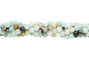 Amazonite Multi Color Polished 6mm Round - Large Hole