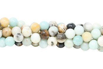 Amazonite Multi Color Polished 10mm Round - Large Hole