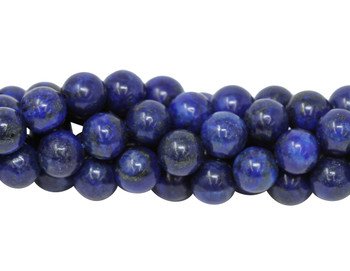Lapis A Grade Dyed Polished 10mm Round