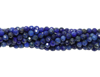Lapis Polished 2mm Faceted Round