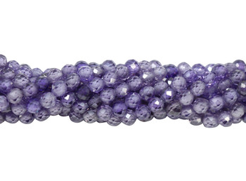 Purple Zircon Grade AA Polished 3mm Faceted Round