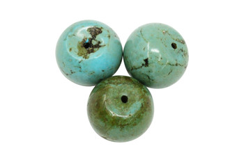 Turquoise Howlite Polished 28mm Rondel