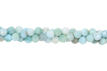 Larimar Polished 7mm Faceted Round