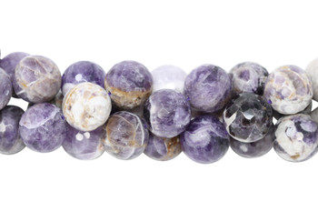 Chevron Amethyst Polished 18mm Faceted Round
