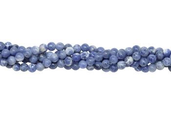 Light Blue Sodalite Polished 4mm Round