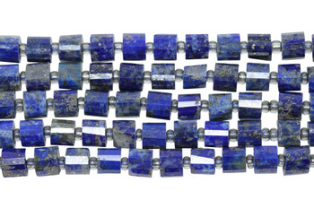 Lapis A Grade Polished 6-7mm Faceted Drum
