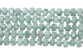 Green Angelite Polished 6x10mm Faceted Tire