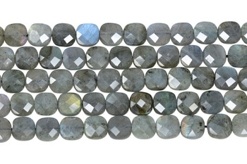 Labradorite Polished 9mm Faceted Square