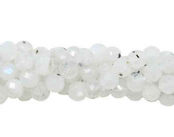 Rainbow Moonstone Polished 5mm Faceted Round