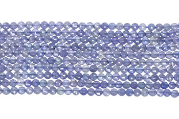 Tanzanite Polished 4mm Faceted Coin