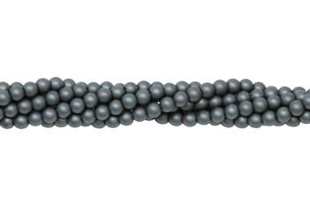 Hematite Matte 4mm Round