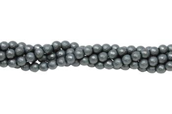 Hematite Matte 6mm 64 Cut Faceted Round