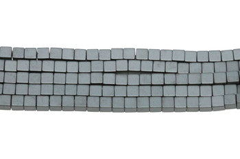 Hematite Matte 3mm Cube