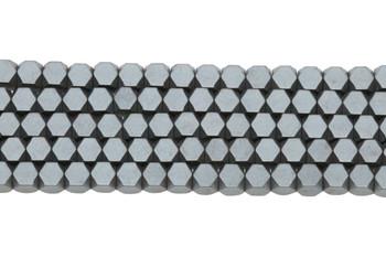 Hematite Matte 4mm Faceted Cube