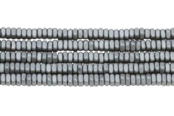 Hematite Matte 2x4mm Square Heishi