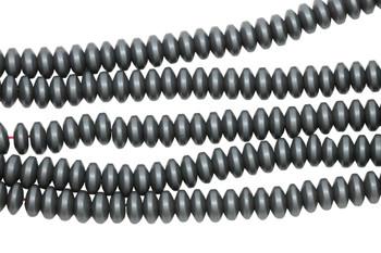Hematite Matte 3x6mm Rondel