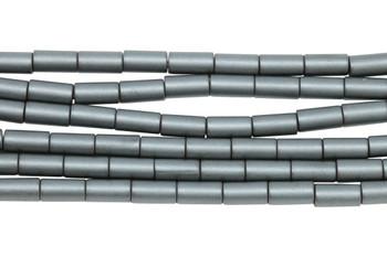 Hematite Matte 4x8mm Cylinder