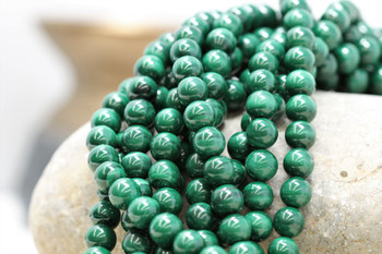 Malachite Grade A Polished 8mm Round