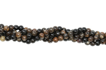 Black Mica Polished 4mm Round
