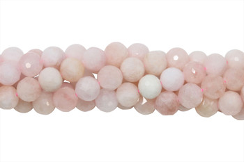 Morganite Polished 7mm Faceted Round