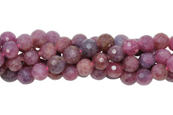 Ruby Polished 8mm Faceted Round
