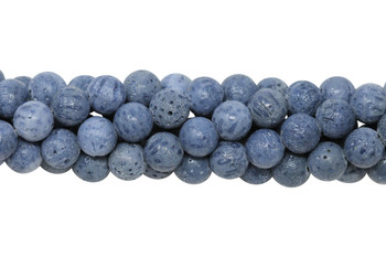 Natural Blue Coral Polished 8mm Round