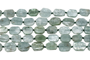 Green Kyanite Polished 16x13mm Hexagon Rectangle