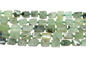 Prehnite Polished 10x8mm Rectangle Nugget