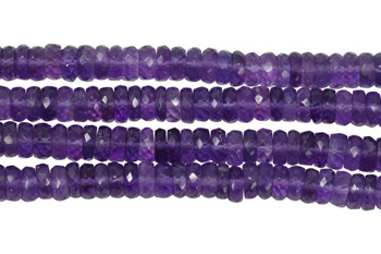 Amethyst Polished 5mm Faceted Tire