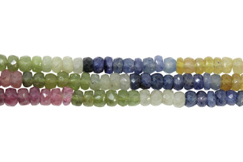 Umba Sapphire Multi Color Polished 4mm Faceted Rondel