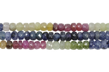 Umba Sapphire Multi Color Polished 5mm Faceted Rondel