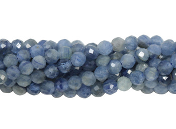 Kyanite Polished 3mm Faceted Round - Light Blue