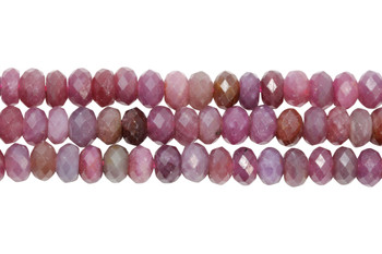 Ruby Polished 6mm Faceted Rondel