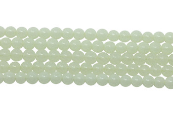 Green Aragonite Polished 4mm Round - Glow in the Dark