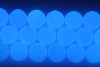 Blue Aragonite Polished 18mm Round - Glow in the Dark
