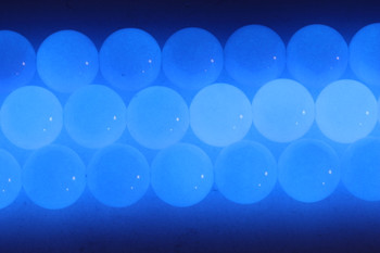 Blue Aragonite Polished 16mm Round - Glow in the Dark