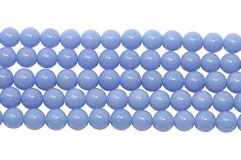 Blue Aragonite Polished 6mm Round - Glow in the Dark